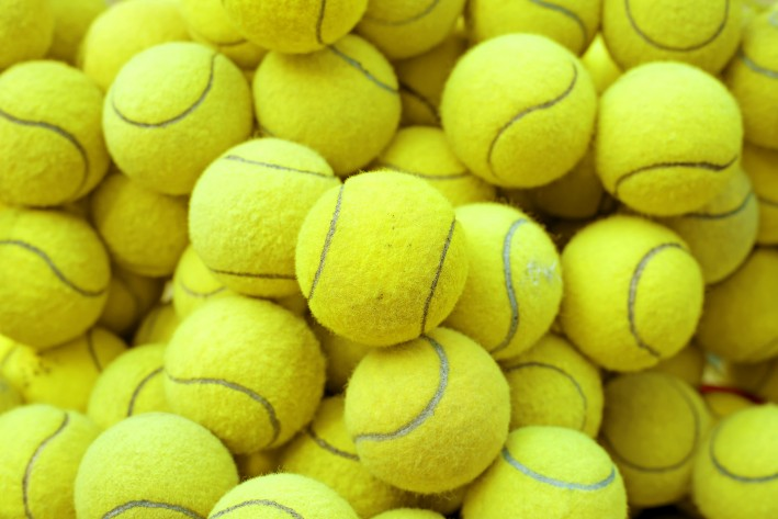 So many tennis balls.