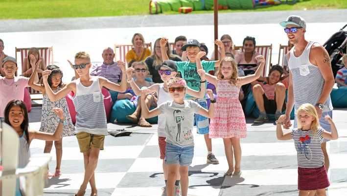 School Holiday Fun in the Plaza