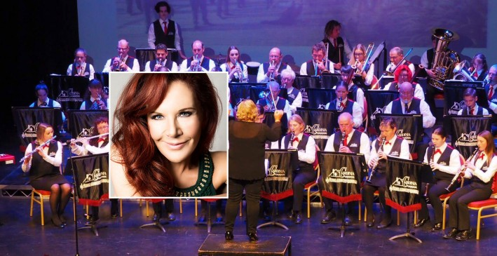 Rhonda Burchmore live with the Cardinia Civic Concert Band