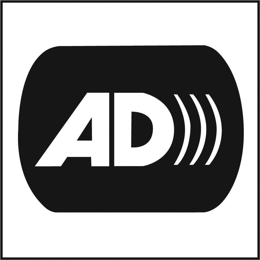 audio described performance logo black and white
